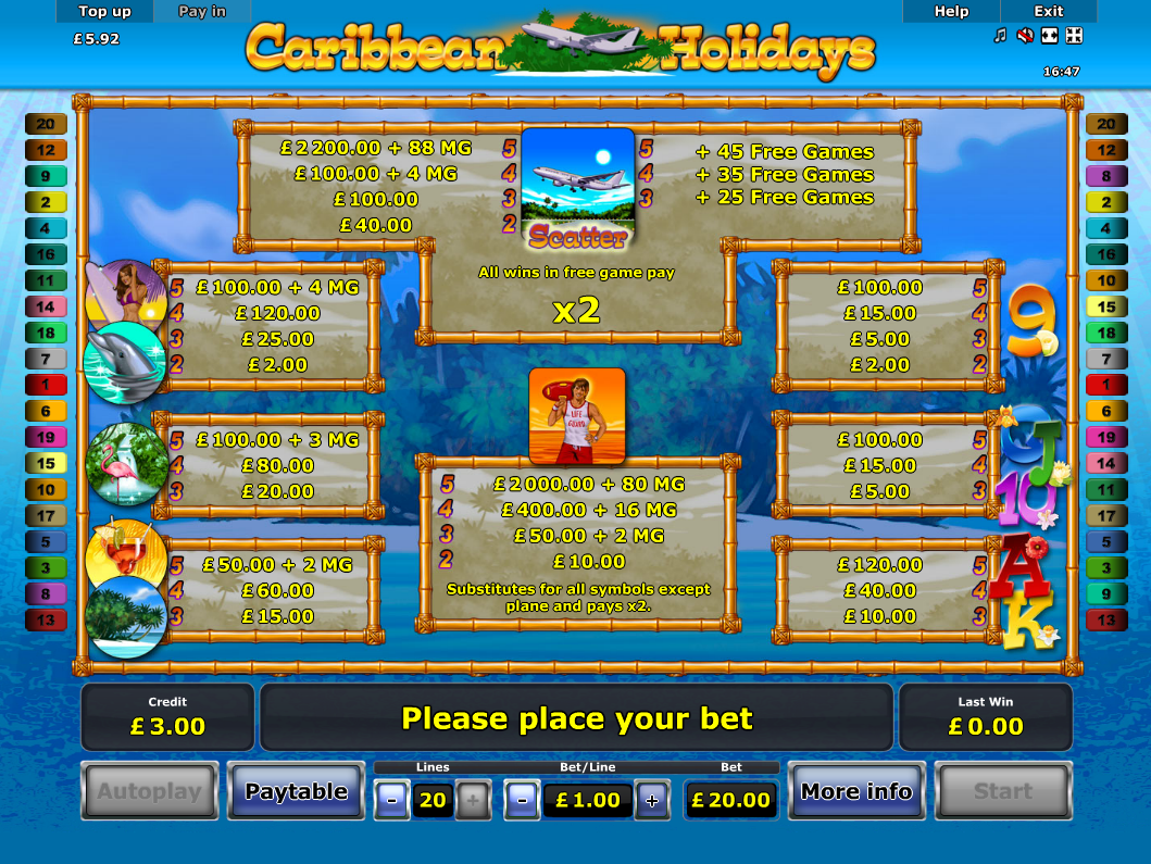 Caribbean Holidays online free