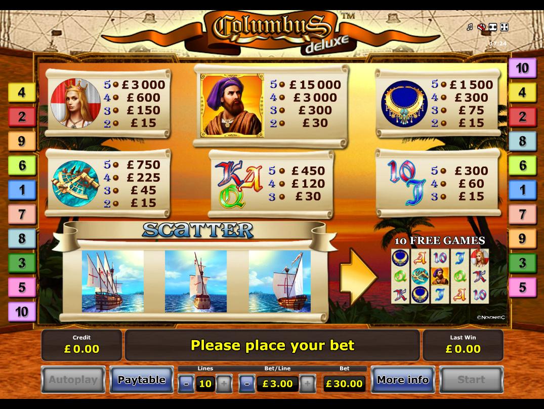 Columbus Deluxe online free
