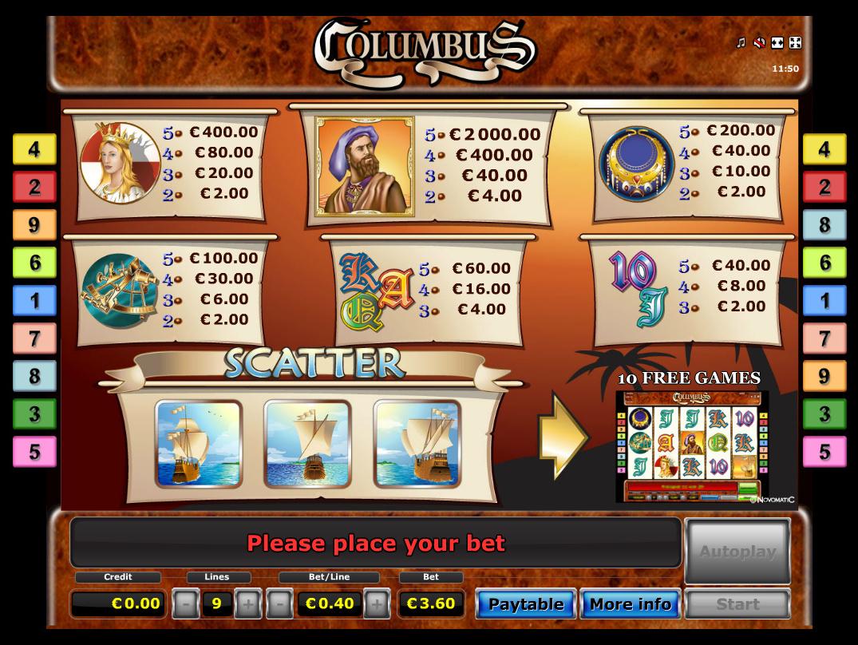 Columbus online kostenlos