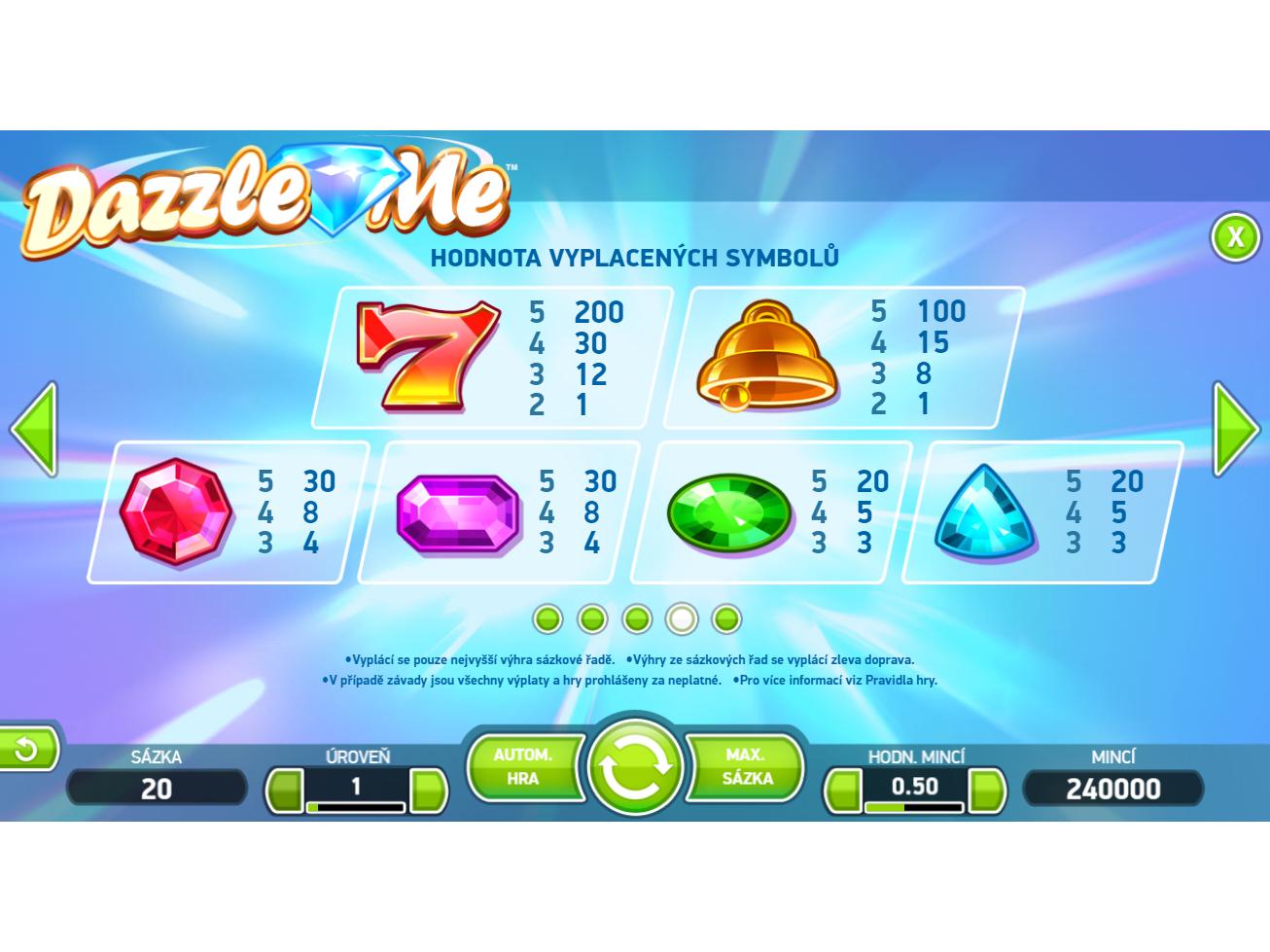 Dazzle Me online za peníze#