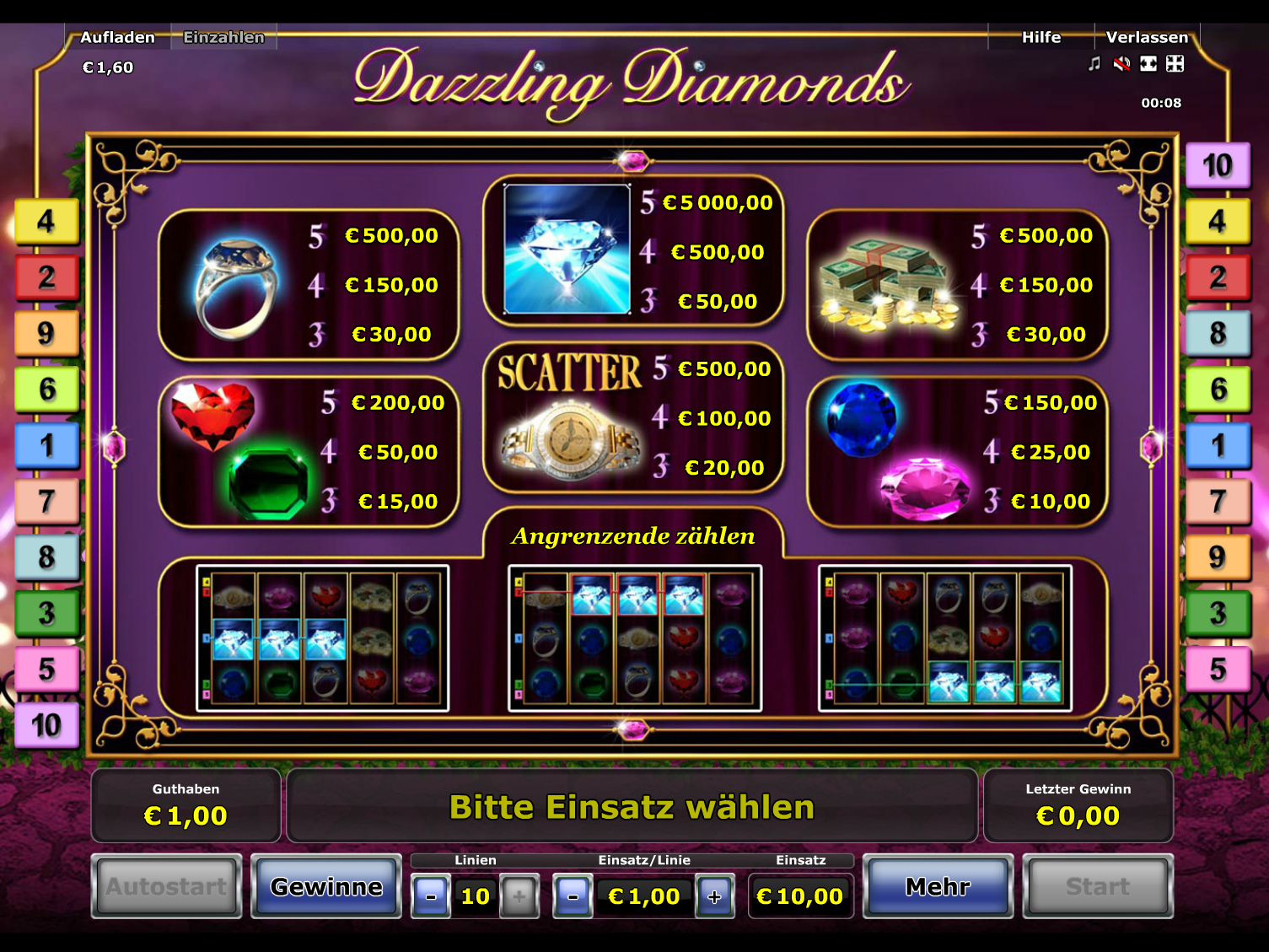 Dazzling Diamonds online kostenlos