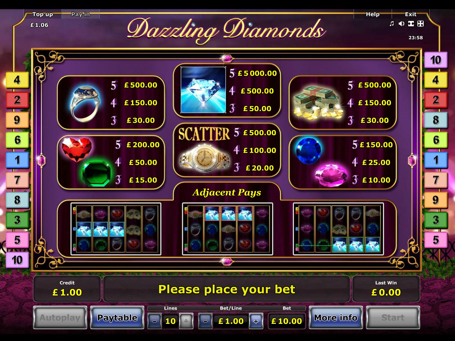Dazzling Diamonds online free