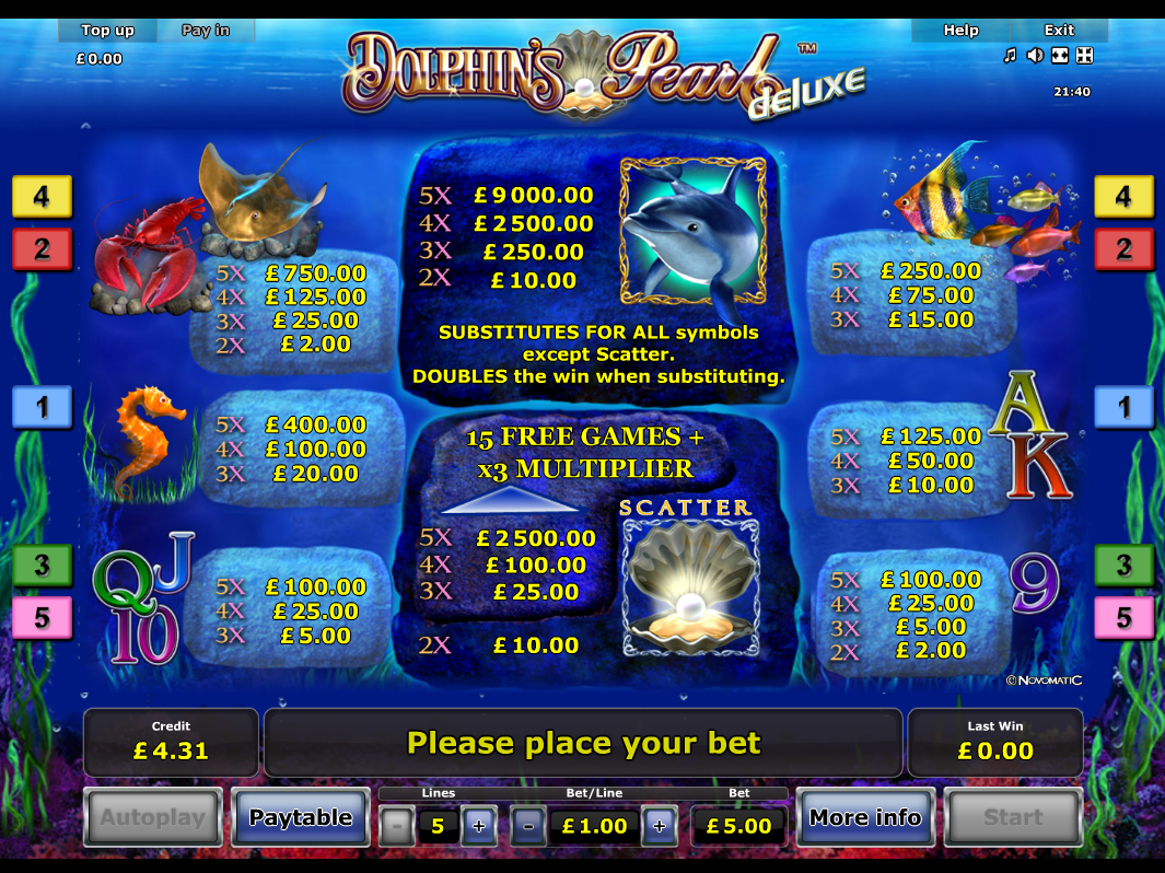 Dolphin's Pearl Deluxe online kostenlos
