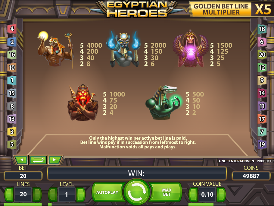 Egyptian Heroes online free