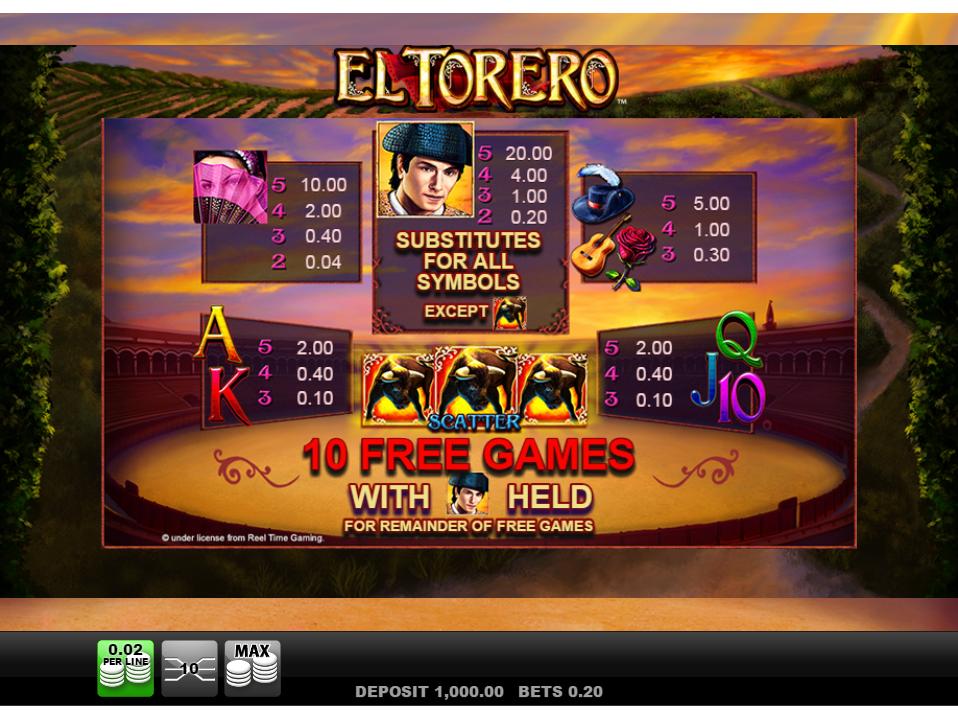 El Torero online kostenlos