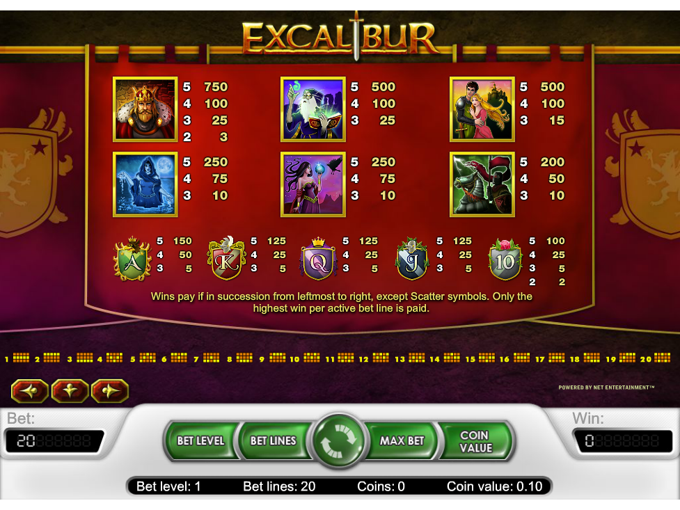 Excalibur online kostenlos
