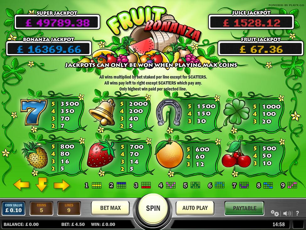 Fruit Bonanza online gratis