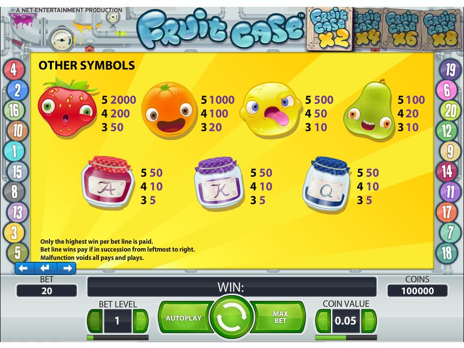 Fruit Case online kostenlos