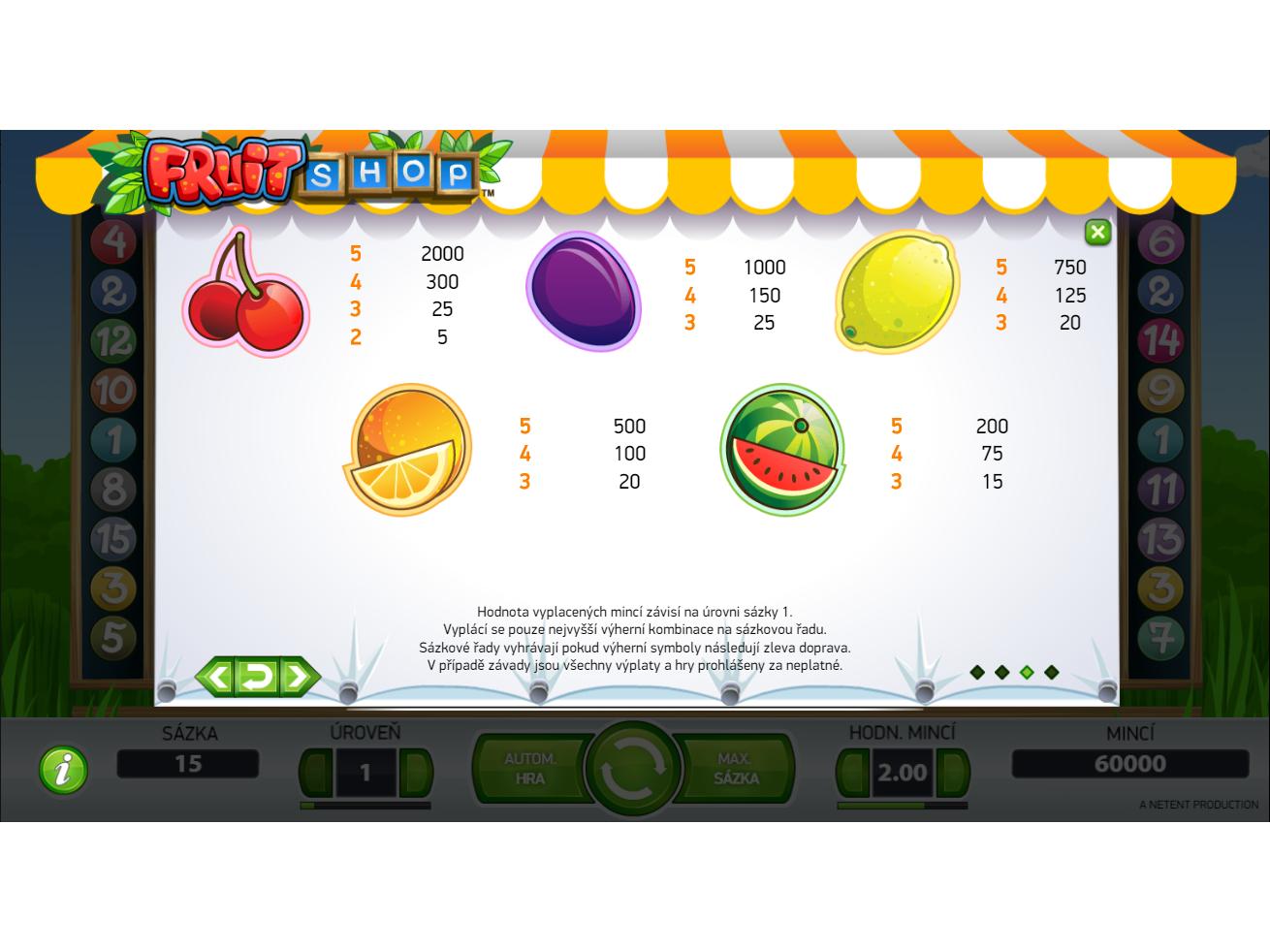 Fruit Shop online za peníze#