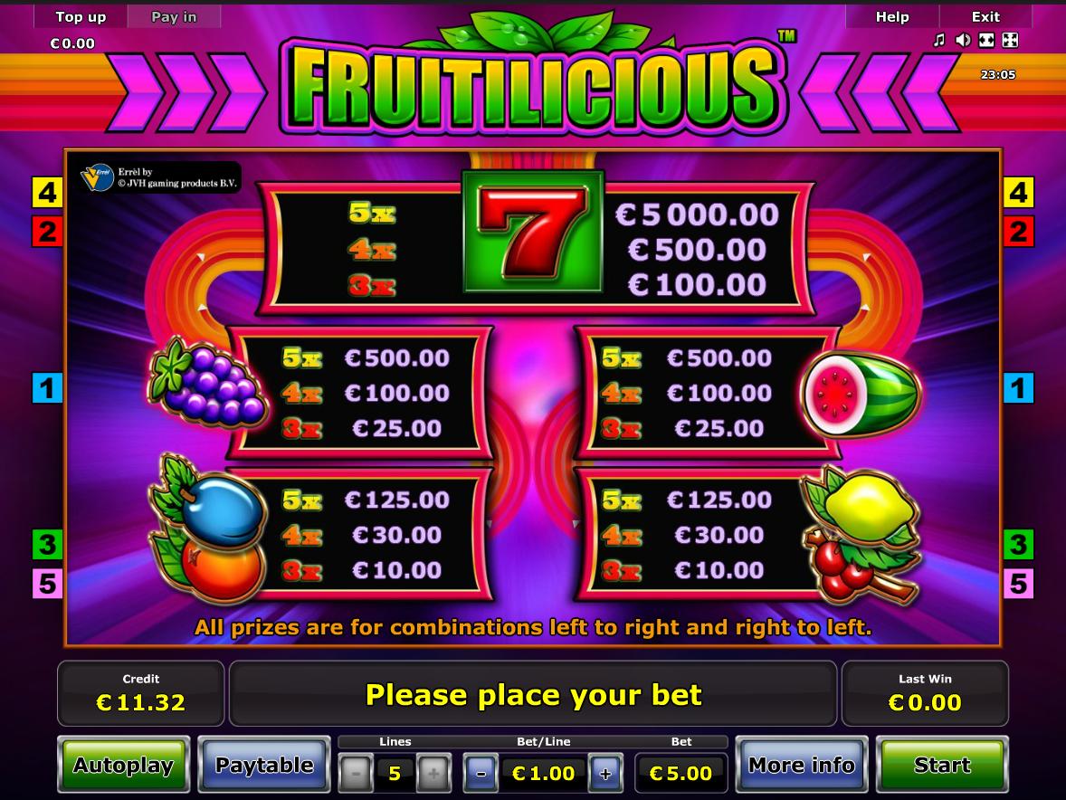 Fruitilicious online kostenlos
