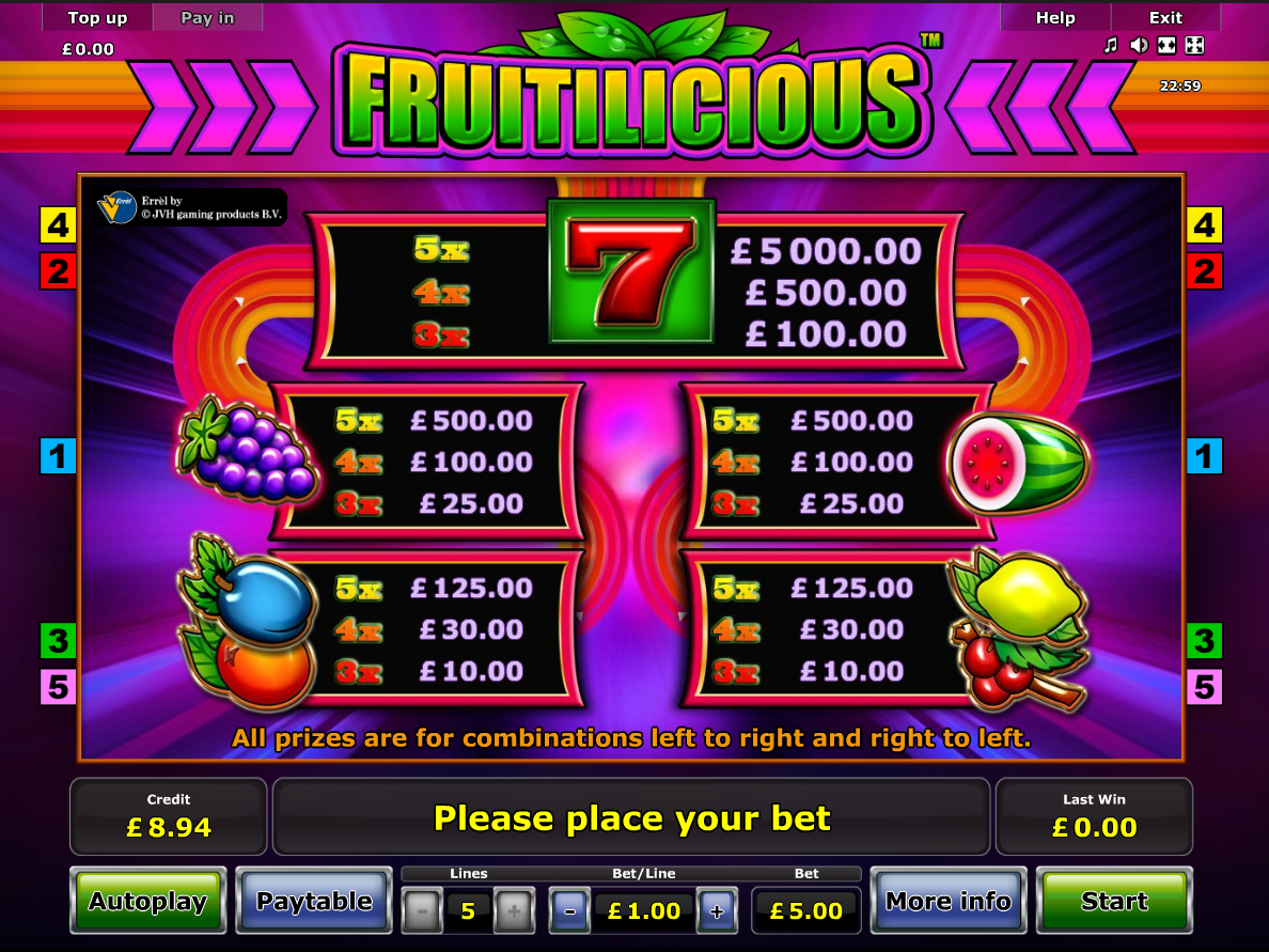 Fruitilicious online free