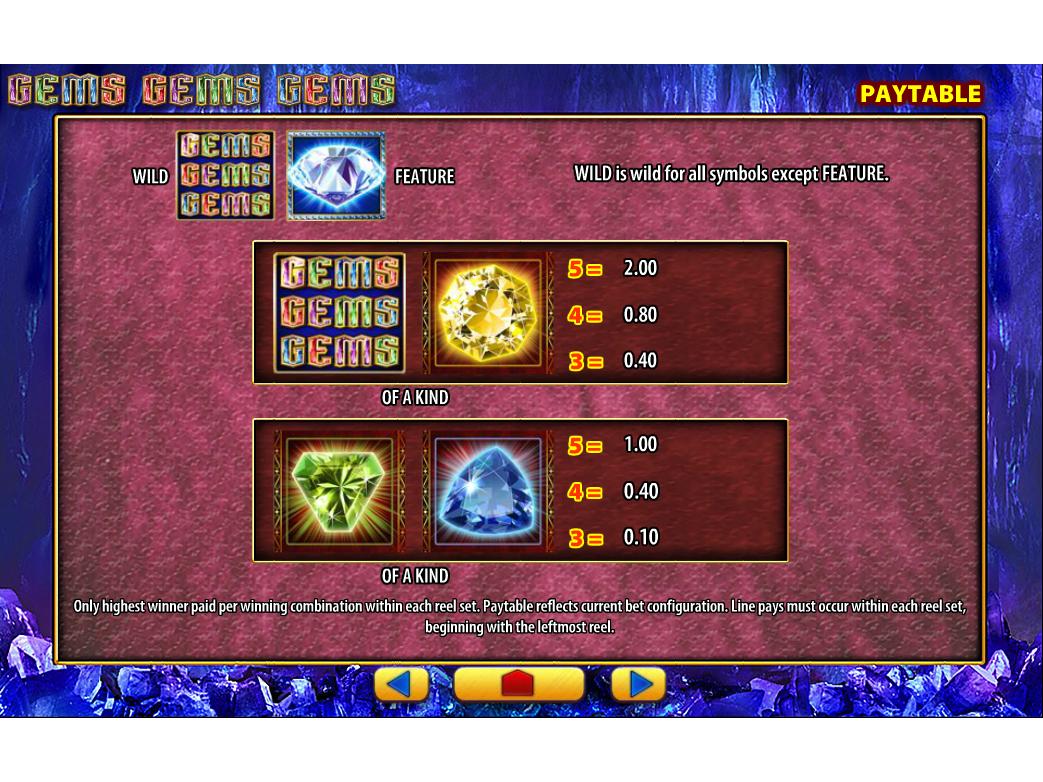 Gems Gems Gems online gratis