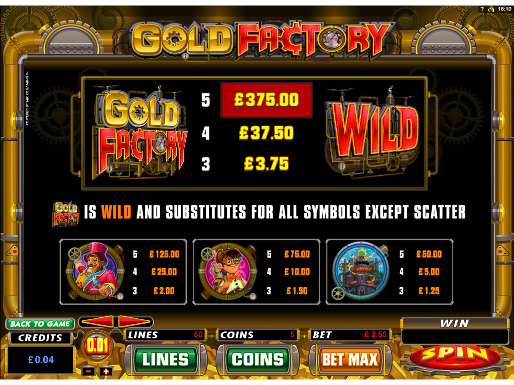 Gold Factory online free