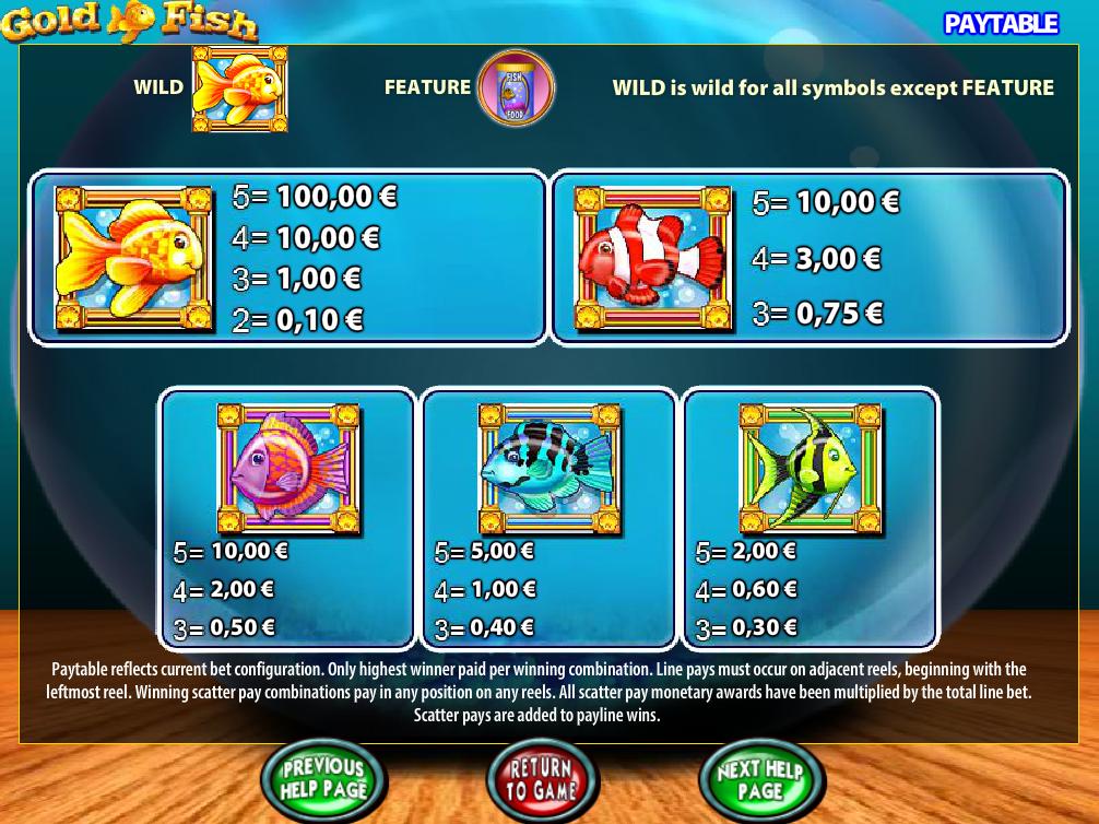 Gold Fish online kostenlos