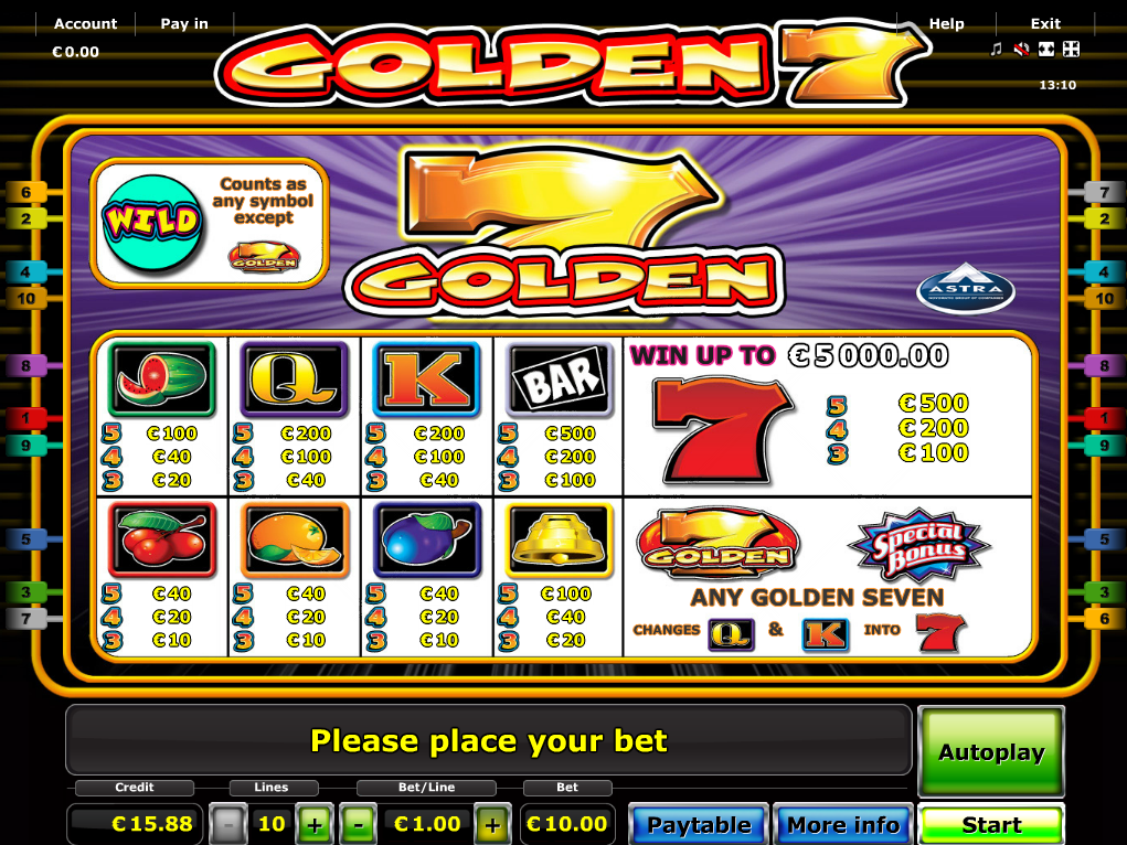 Golden 7 online kostenlos