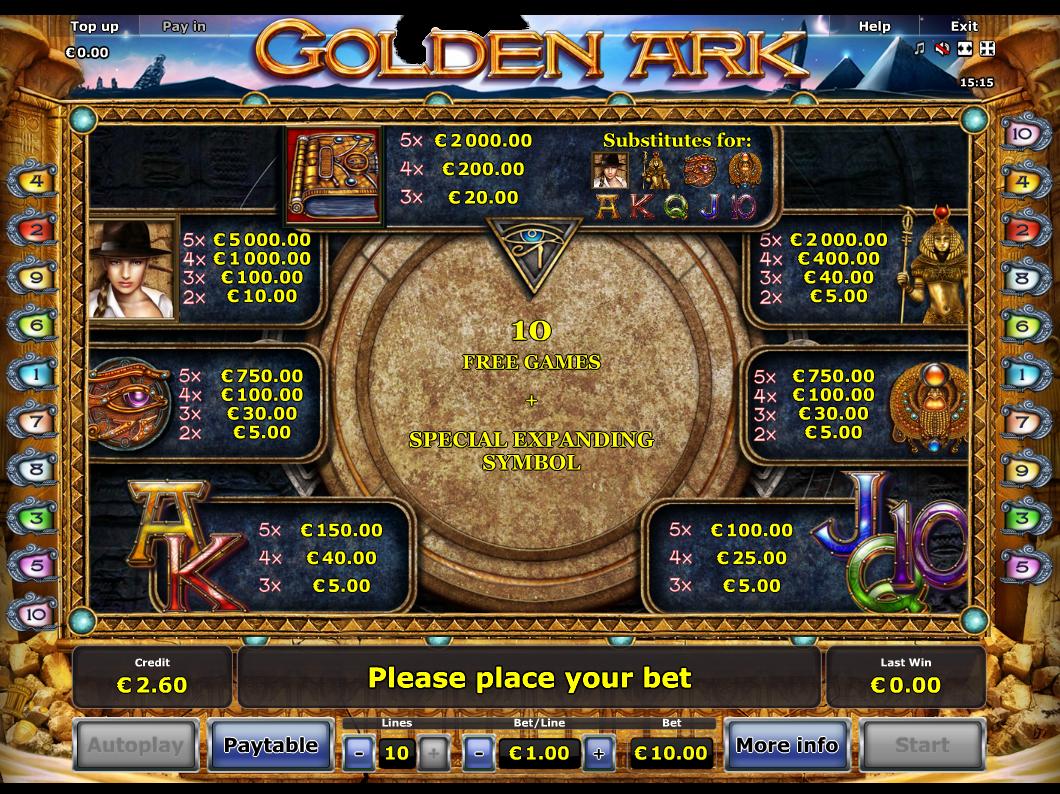 Golden Ark online kostenlos