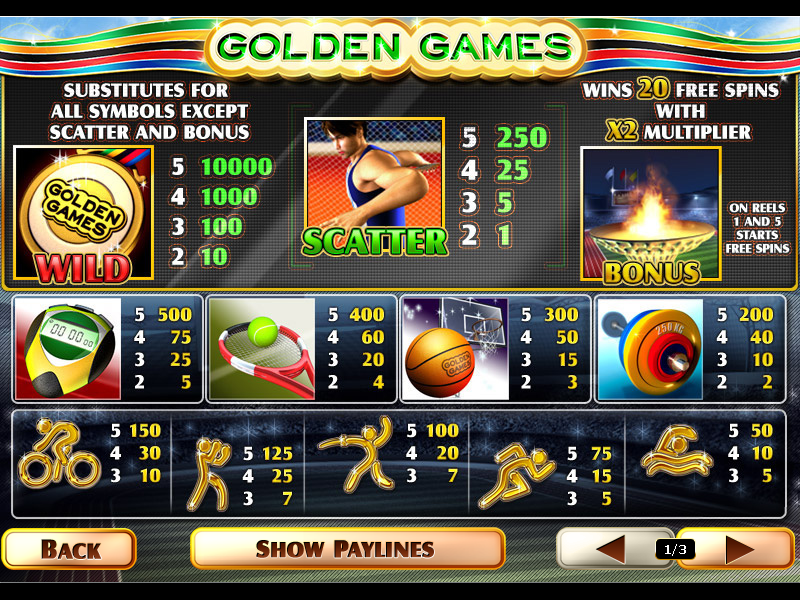 Golden Games online free