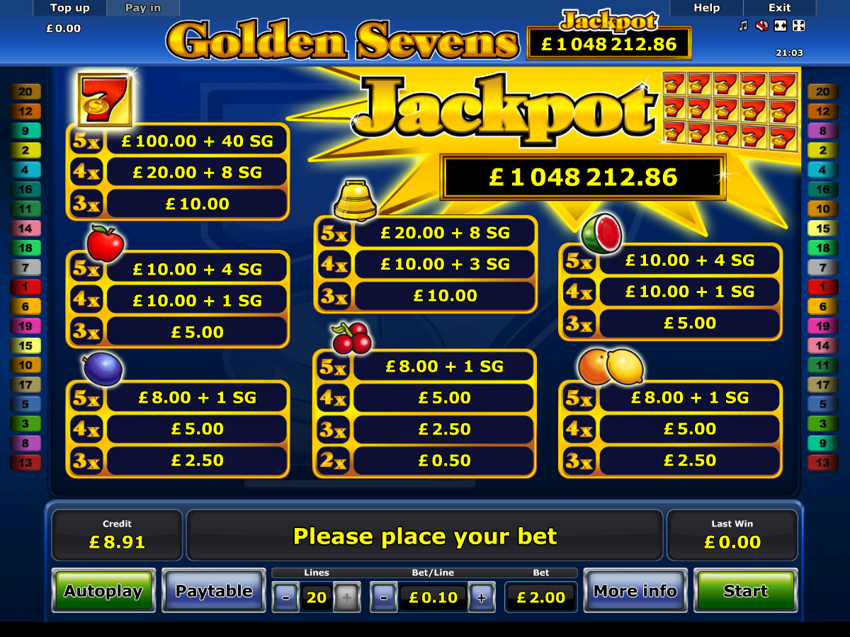 Golden Sevens online free
