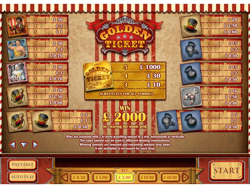 Golden Ticket online gratis