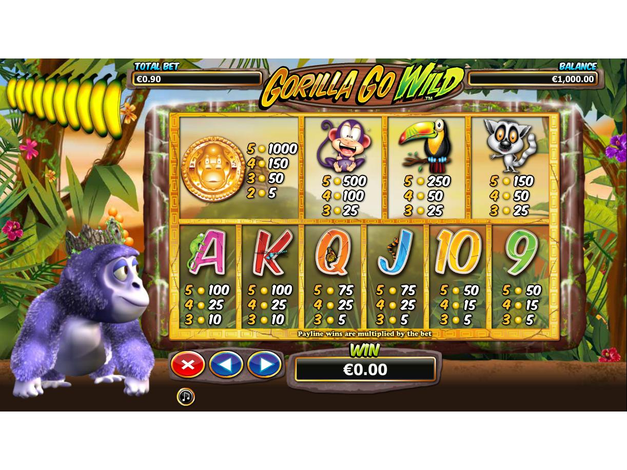 Gorilla Go Wild online kostenlos