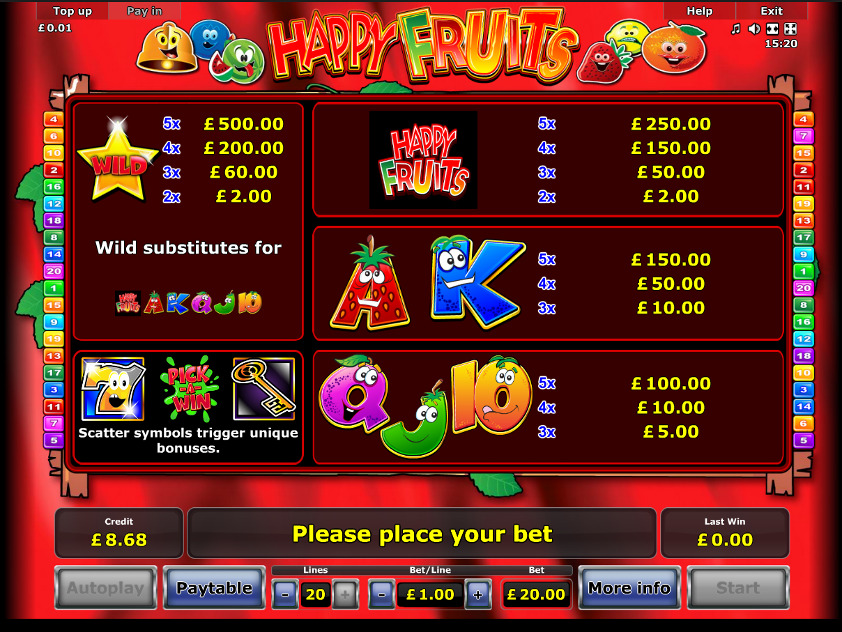 Happy Fruits online free
