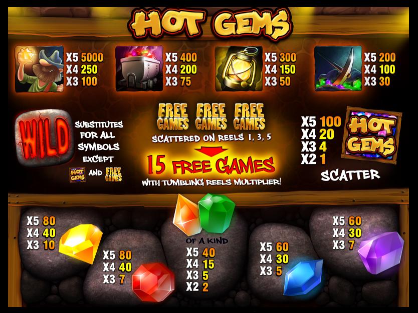 Hot Gems online free