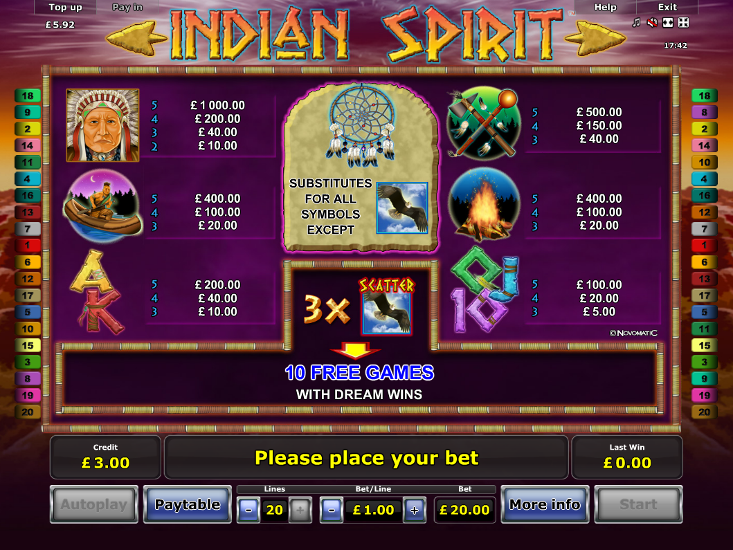 Indian Spirit online free