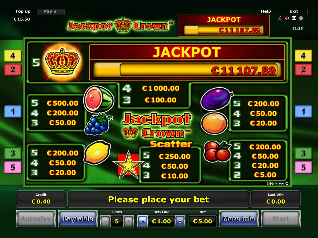 Jackpot Crown online kostenlos
