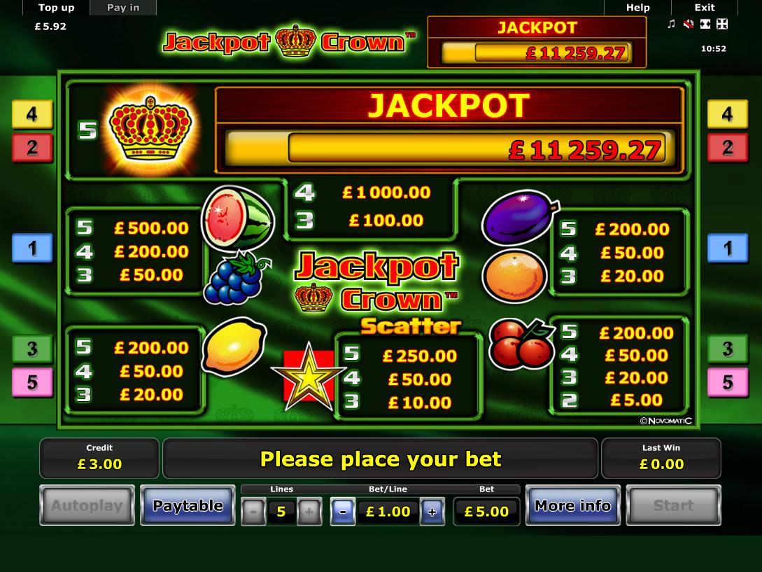 Jackpot Crown online free