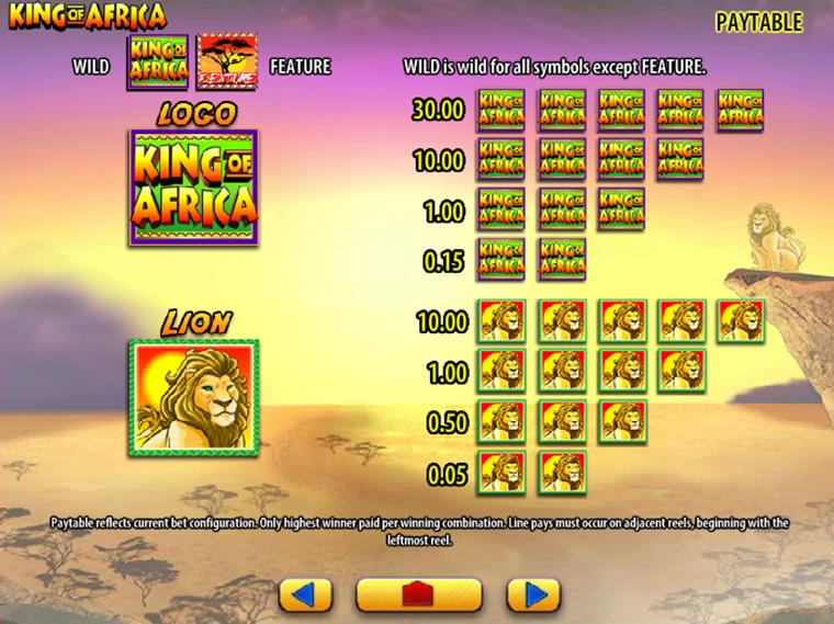 King of Africa online gratis