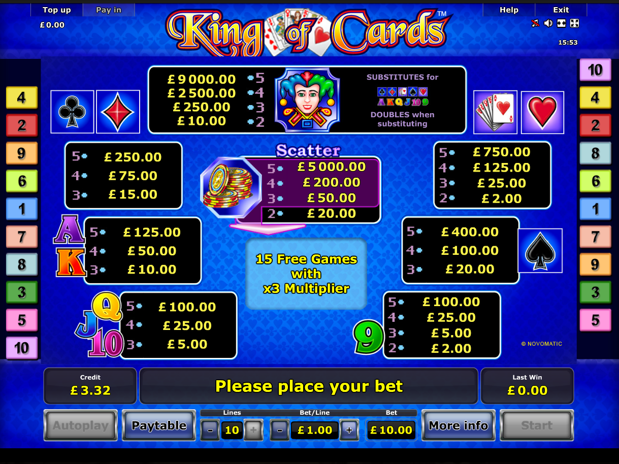 King of Cards online free