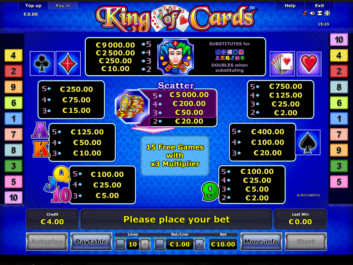 King of Cards online kostenlos