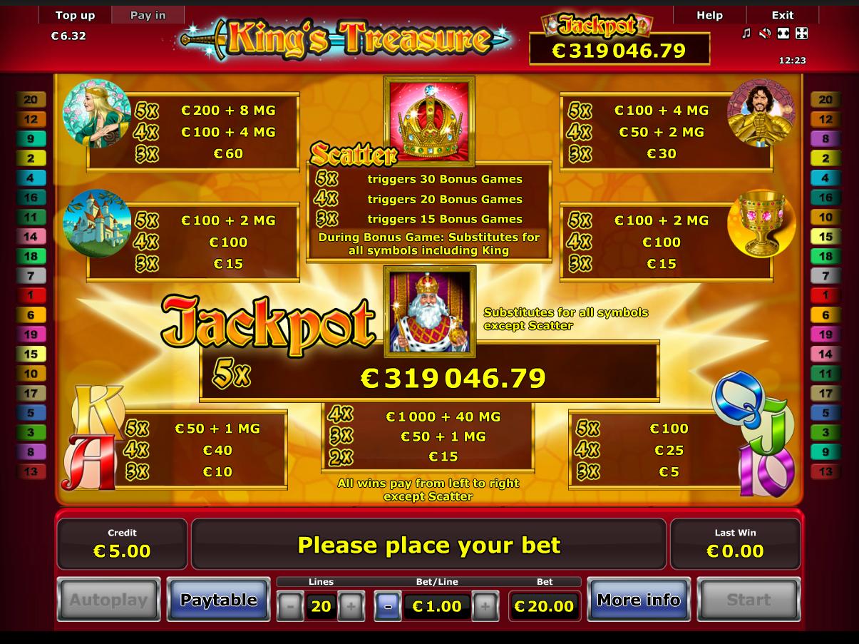 King's Treasure online kostenlos