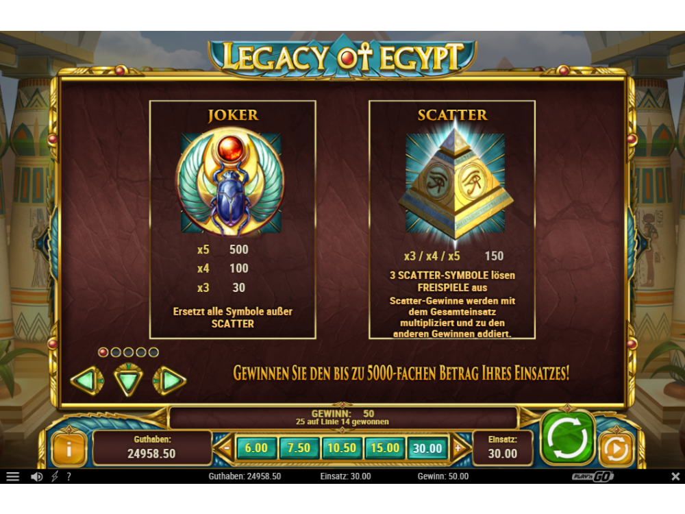 Legacy of Egypt Casino