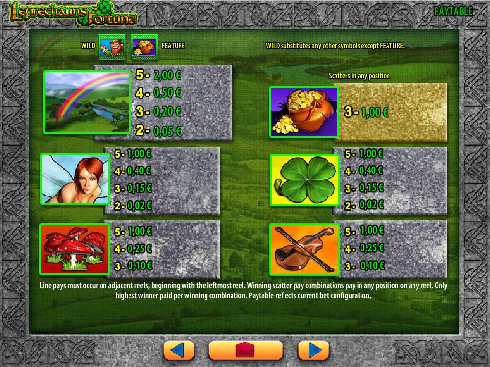 Leprechaun's Fortune online kostenlos