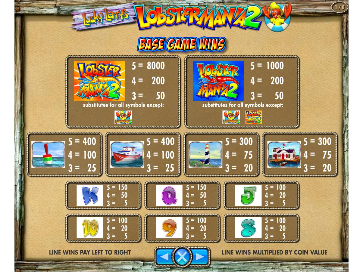 Lucky Larry's Lobstermania 2 online gratis