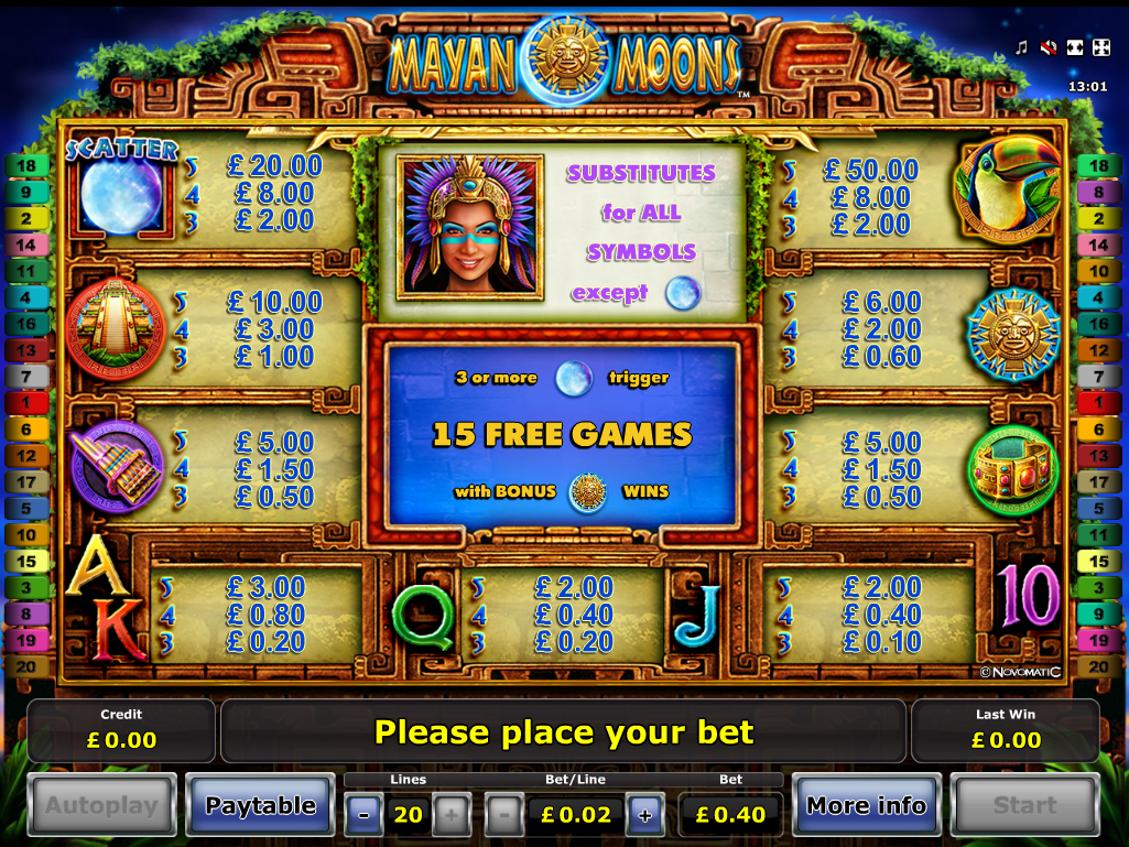 Mayan Moons online free