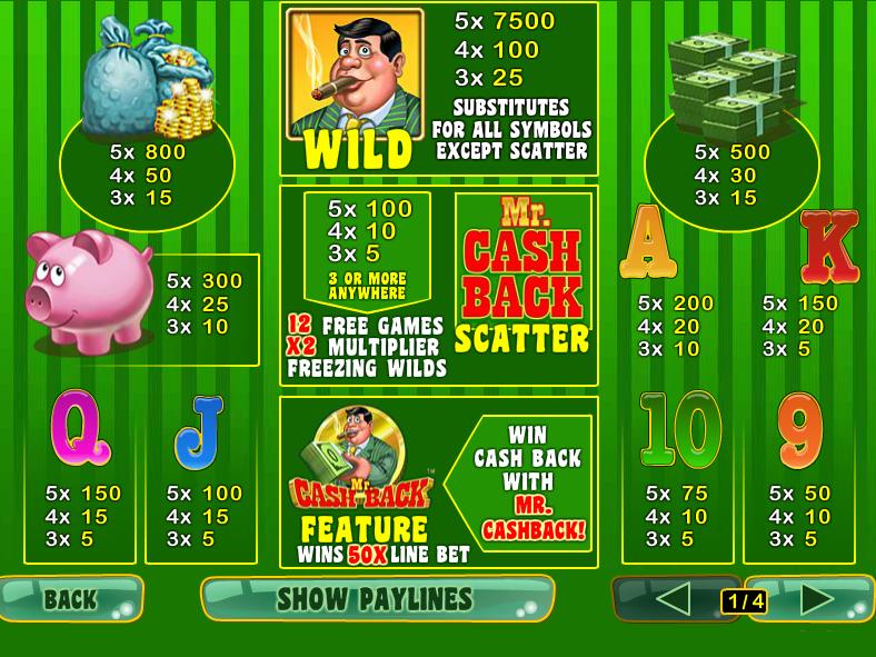 Mr. Cashback online free