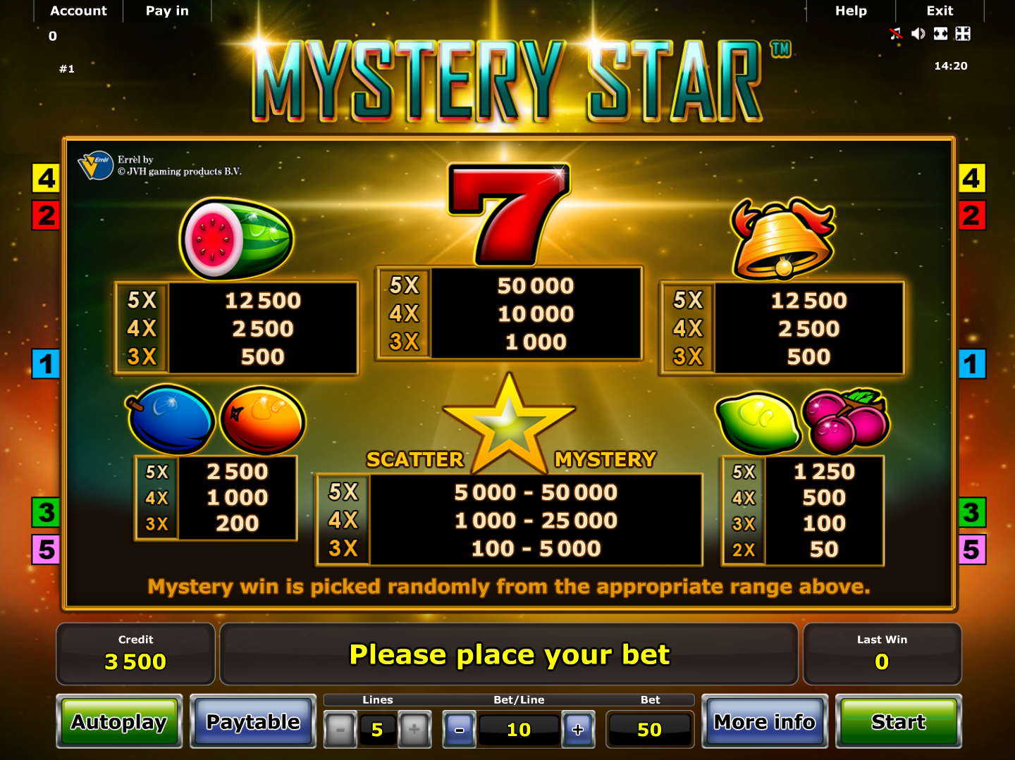 Mystery Star online free