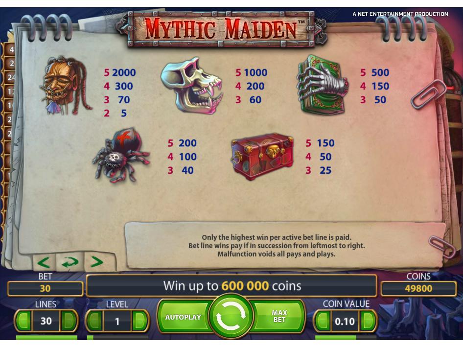 Mythic Maiden online kostenlos