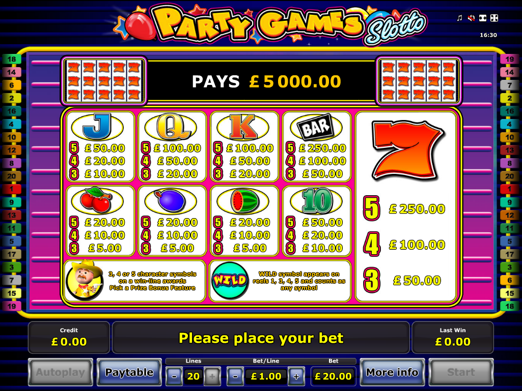Party Games Slotto online free