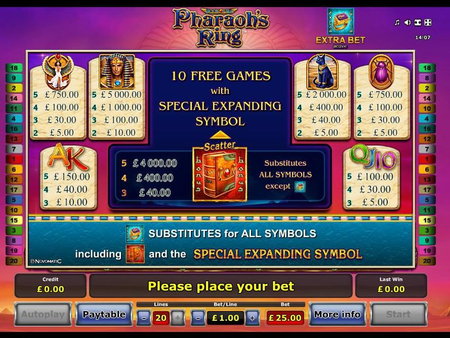 Pharaoh's Ring online free