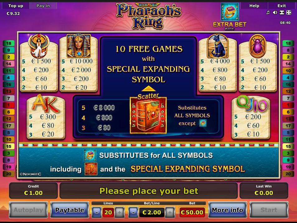 Pharaoh's Ring online kostenlos