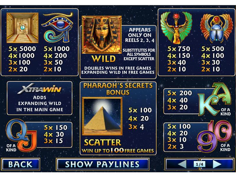 Pharaoh's Secrets online free