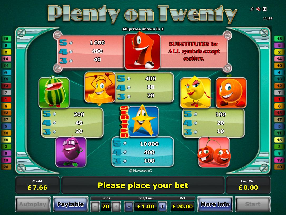 Plenty on Twenty online free
