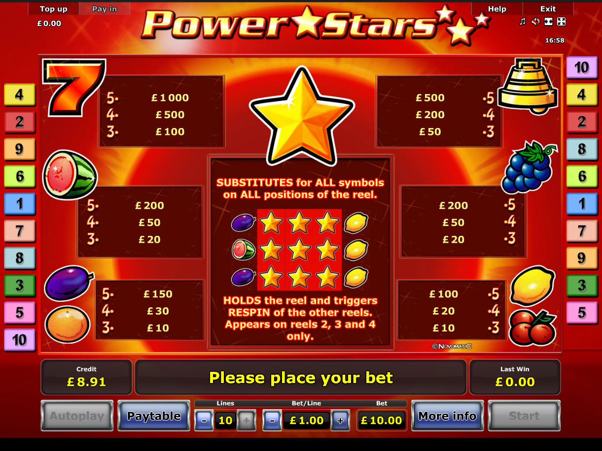 Power Stars online free
