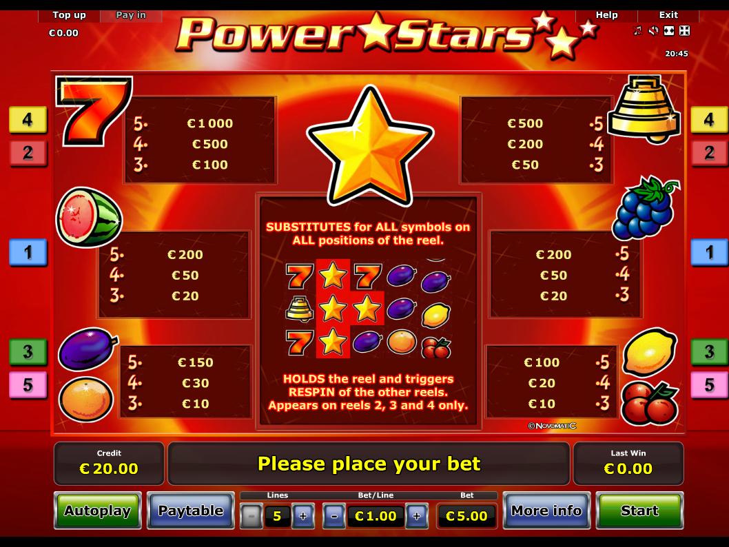 Power Stars online kostenlos