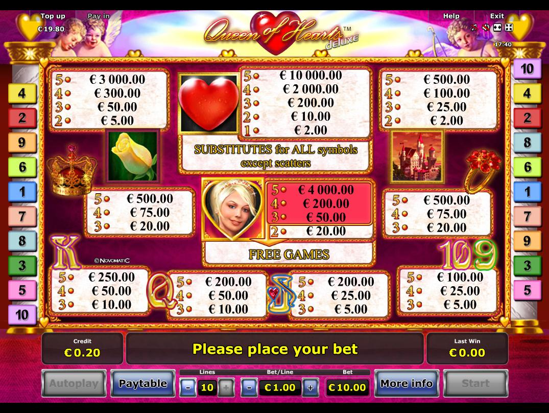 Queen of Hearts Deluxe online kostenlos