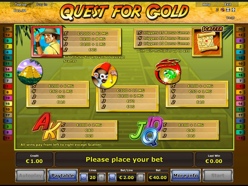Quest for Gold online kostenlos