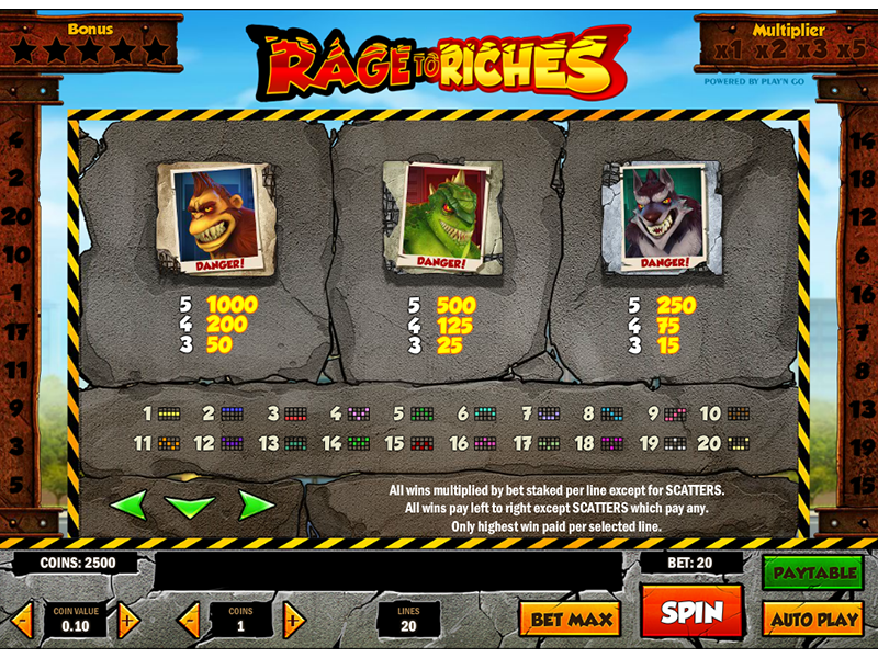 Rage to Riches online gratis